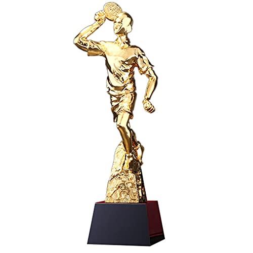 Trofeos Maestro De Tenis De Mesa Competición De Tenis De Mesa Juegos De Aprendizaje Recuerdos De Jugador De Tenis De Mesa Texto Personalizable (Color : Gold, Size : 29cm)