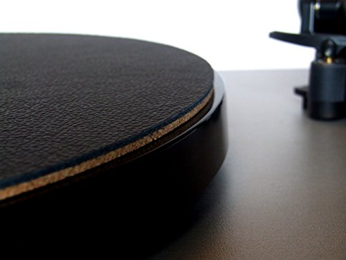 Wooden Bull - Leather and Cork Audiophile Turntable Mat - Classic Black
