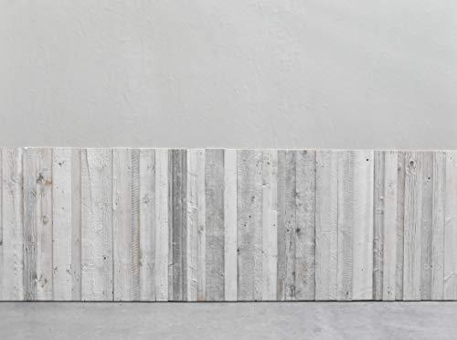 Barnwood Wandholz Whitewash, Wandverkleidung aus Holz in 3D-Optik, 0,8 m2 - 3