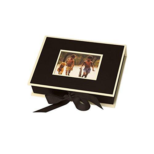 Semikolon (352514) Kleine Fotobox mit Einschubfenster black (schwarz) - Aufbewahrungsbox für Bilder - Geschenk-Box für Schmuck - 20,7x15,3x4,7 cm