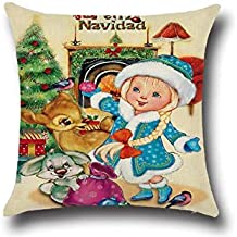 Pengcher Christmas Rabbit Home Decor Pillowcase Decoration Sofa Car Cushion