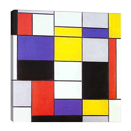 Piet Mondrian 《Composición A》 Cuadro en Lienzo| Lienzos Decorativos | Cuadros Decoración...