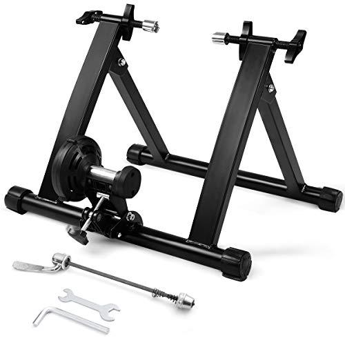 Goplus Rullo per Bicicletta Rullo per Allenamento Trainer Bicicletta Pieghevole