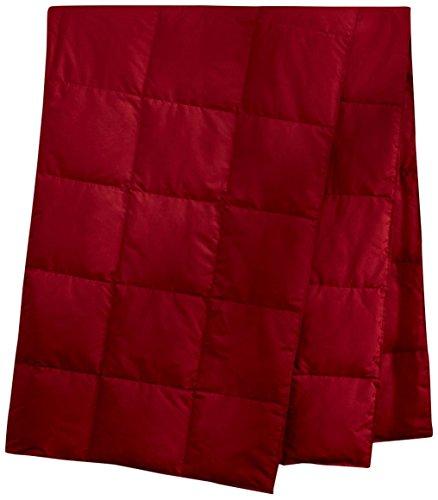 Tragbar Daunendecke für Alltag und Outdoor, leicht Wohndecke mitPeach Skin Sportdecke 130 * 180cm Rot