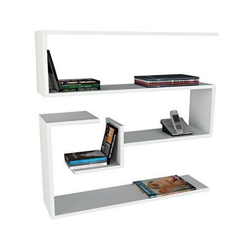 Alphamoebel 0189 Confier Bücherregal Schweberegal Wandregal Holzregal Hängeregal Wandboard Regal...