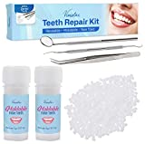 Teeth Repair Kit, Temporary Teeth replacement kit, Moldable False Teeth, Thermal Fitting Beads for Snap On Instant and Confident Smile, with Mouth Mirror, Mouth Tweezer, Dental Probe