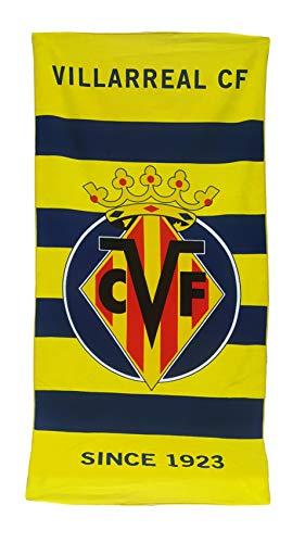 Villarreal CF Toalla, Unisex Adulto, Amarillo, Talla Unica