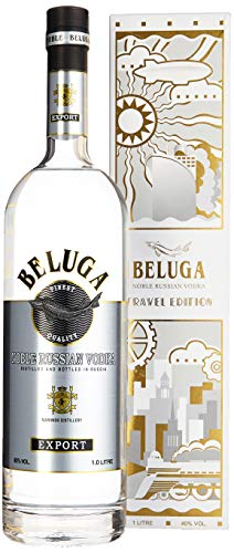 Beluga Noble Russian Vodka Export Travel Edition Mit Geschenkverpackung (1 x 1 l)