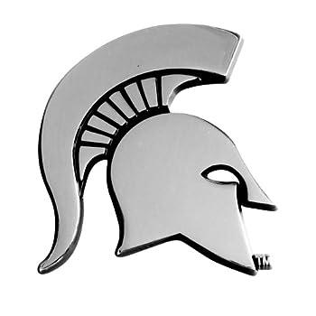 FANMATS - 14866 NCAA Michigan State University Spartans Chrome Team Emblem 2.1 x3.2