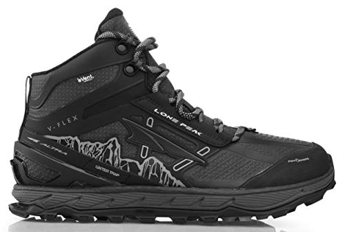 Altra Men's Lone Peak 4 Mid RSM Waterproof Trail Running Shoe, Black - 10 D(M) US