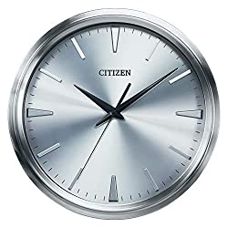 Citizen CC2004 Gallery Wall Clock, Silver-Tone