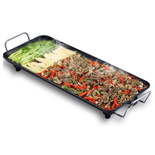 Big Shark Grillmachine, rookvrij, met elektrische grill, Koreaanse stijl, anti-aanbaklaag, grote plaat, inhoud ijzer, elektrische kookplaat