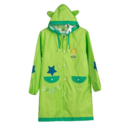 Raincoat Raincoat Imperméable de Toddler Lovely Unisexe Kid, Vert