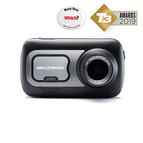 Nextbase 522GW - Series 2 Car Dash Camera - Full 1440p/30fps HD Recording DVR Cam - Front Recording - 140° Wide Viewing Angle - Wi-Fi and Bluetooth - Built-in Alexa - GPS