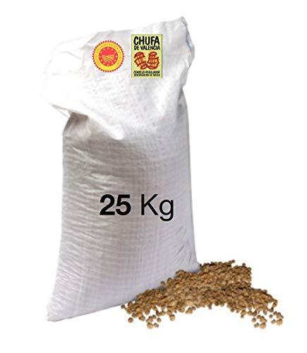 Saco rafia blanca 25 kg Chufa tradicional a granel València - Món Orxata. Directa de familias agricultoras. Conservar a menos de 15º