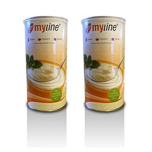 Inko Myline Eiweiß , Stracciatella, 2er Pack (2 x 400g Dose) Mylineaktion 2019 + 3 Myline Riegel gratis