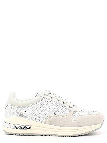 Sneakers con paillettes Cafè Noir art.DA642 Bianco 40