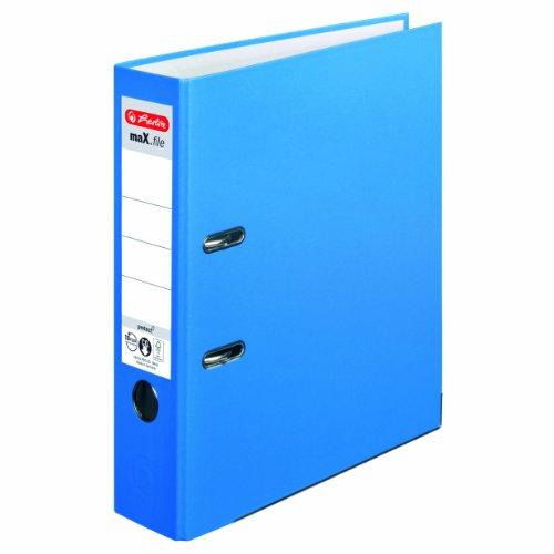 Herlitz 10094837 Ordner maX.file protect A4 (8 cm mit Einsteckrückenschild) acqua