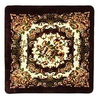 花柄 ラグマット/絨毯 【200cm×300cm ブラウン】 長方形 ホットカーペット 床暖房対応 『リオ3』【代引不可】