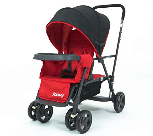 Joovy Caboose Too Graphite Stand-On Tandem Stroller, Red...