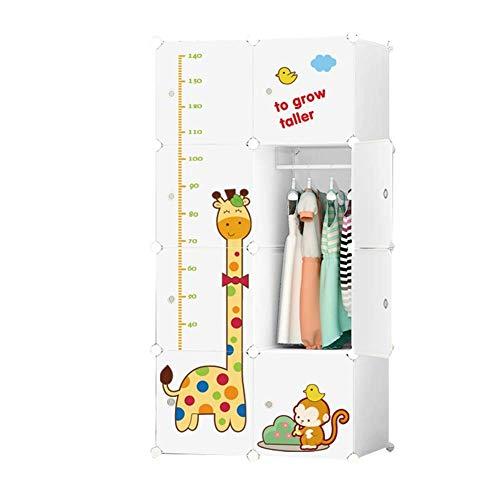 Dongbin Nursery Kinder nett Musterkombination tragbarer Schrank, idealer Ort für die Cube Kleidung, Bücher, Spielzeug, Schränke, die verwendet Werden können, die Höhe des Bambi to Measure,Cupboard