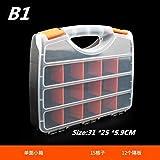 Werkzeug Aufbewahrungsbox Praktische ABS Kunststoff Schraube Werkzeug Aufbewahrungsbox mit Schraubendreher Hardware Zubehör Toolbox Auto Repair Toolbox (Color : B1)