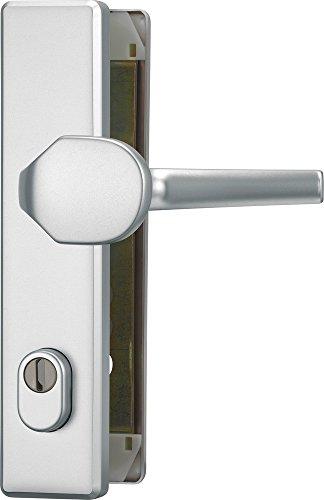 ABUS Tür-Schutzbeschlag HLZS814 F1 aluminium mit Zylinderschutz eckig 20351