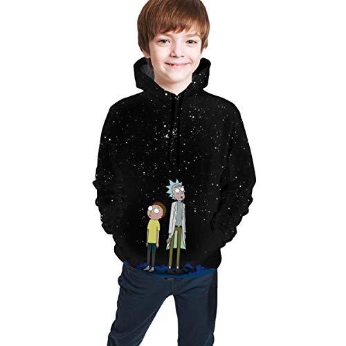 Kay Sam Sudadera con Capucha Rick Morty para Adolescentes, pulóver con Estampado Personalizado, Sudaderas con Capucha, suéter para niños, niñas, Adolescentes, niños