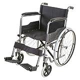 Yeeseu Silla de rehabilitación médica, silla de ruedas, silla de ruedas plegable de peso ligero de conducción médica, pasado de moda Manual Vespa acero silla de ruedas de acero al carbono de bicicleta