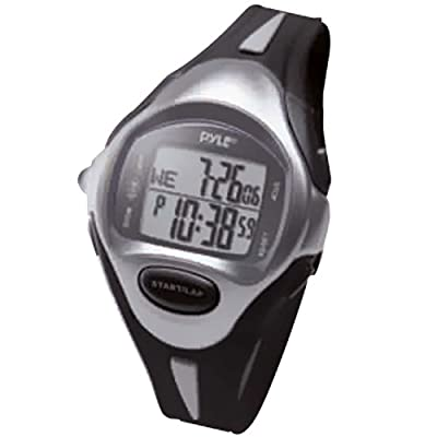 Multifunction Sports Training Wrist Watch - Smart Classic Sport Fit Running Digital Fitness Gear Tracker w/ Timer, Alarm, Target Time, Marathon Mode, LED, For Men and Women - Pyle PSWLMR30BK (Black)