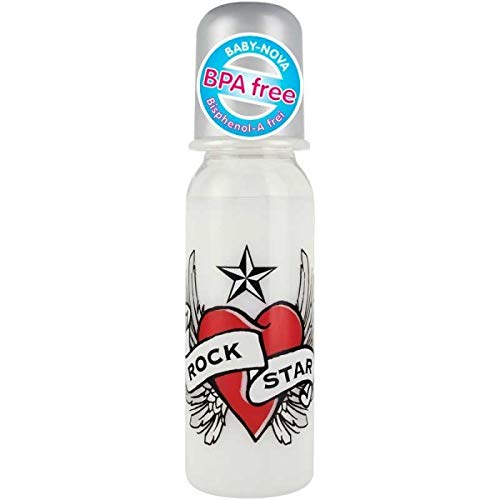 Rock Star Baby Trinkflasche 250ml mit Heart&Wings