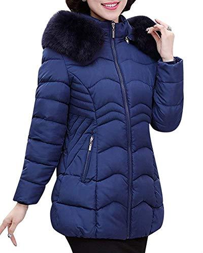 Adelina dames donsjas herfst winter verdikte gewatteerde jas casual mode merk imitatiebontkraag lange mouwen mode completi elegante winterjas met capuchon ritssluiting mantel gewatteerde jas