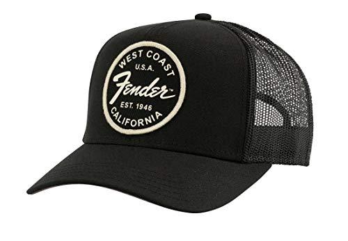 Fender© West Coast Trucker Hat, Black, Schwarz, Einheitsgröße