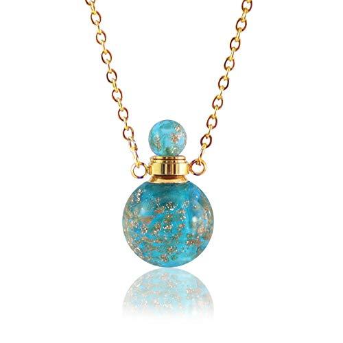 Memorial Cenizas 1pc Collar de Cristal Keepsake Cremation Locket Colgante Joyas Hold Monks Memorial Cremation Jewelry Urna Cenizas Colgante Memorial