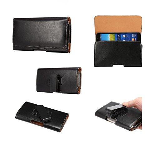 DFV mobile - Funda Cinturon Ejecutivo con Clip Giratorio 360º y Piel Sintetica para Xiaomi Red Rice 1S / Hongmi RedMi 1S - Negra