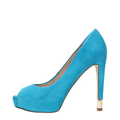 GUESS Zapatos de Salón Highheels stilettos Turquesa (EUR 38, Turquesa)