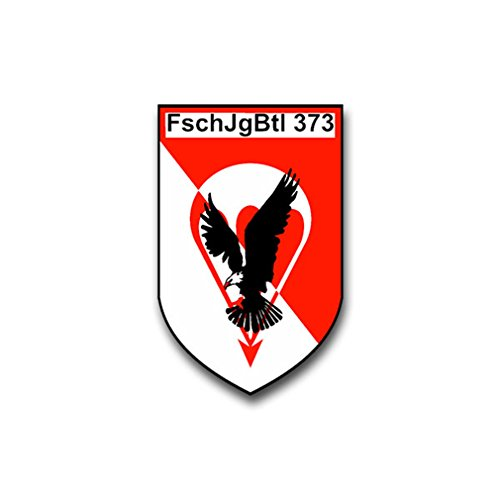 Aufkleber/Sticker FschJgBtl 373 Fallschirmjäger Bataillon Wappen 5x7cm A870