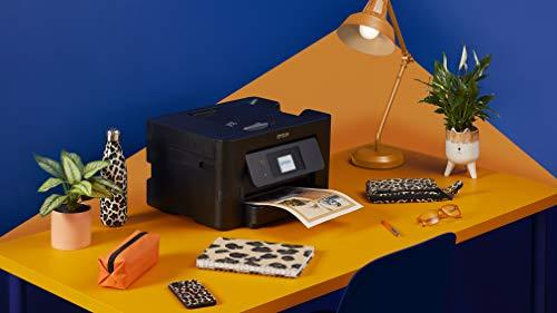 Epson WorkForce Pro | WF-3820DWF | Drucker für Chromebook | 4-in-1 Tintenstrahl-Multifunktionsgerät (Drucker, Scanner, Kopierer, Fax, ADF, WiFi, Ethernet, NFC, Duplex, Einzelpatronen, DIN A4) - 2