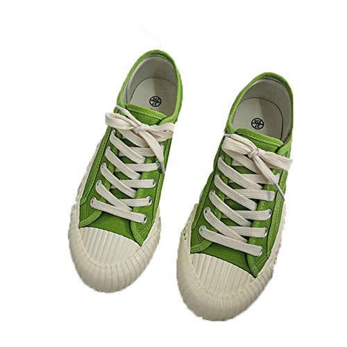 Zapatos vulcanizados para Mujer, Antideslizantes, de Color sólido, cómodos Zapatos Casuales, Zapatos de Lona con Cordones, Zapatillas de Deporte