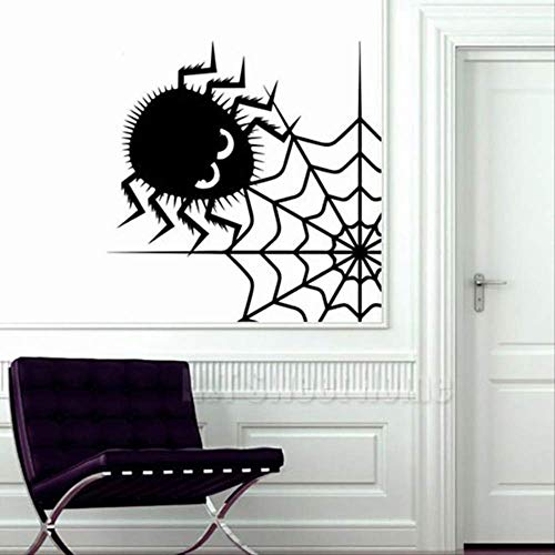 Adesivo Murale Ragnatela Spinner Carino Adesivo Rimovibile Vinile 3D Arte Murale Manifesti Per La Festa Di Halloween Decor Decor