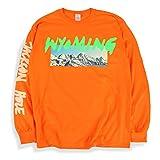 Kanye West Ye Long Sleeve T Shirt Wyoming Listening Party (Orange, Large)
