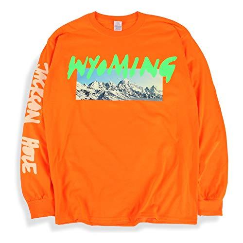 Kanye West Ye Long Sleeve T Shirt Wyoming Listening Party Orange (Med)