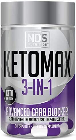 NDS Nutrition Keto Max Advanced 3 in 1 Keto Pills for Women Fat Loss Support Carb Blocker Appetite product image