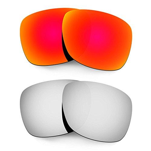 HKUCO Mens Replacement Lenses For Oakley Catalyst Red/Titanium Sunglasses