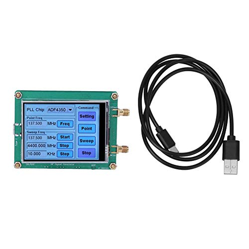 Signal Generator High Exactness Full Touch Screen RF Sweep Dot Frequency Module Radio PC Meter Counter Control with Data Cable SMA Female ADF4350/ ADF4351 (ADF4350)