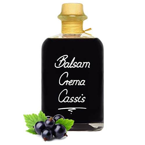 Balsamico Creme Cassis 1L 3% Säure mit original Crema di Aceto Balsamico di Modena IGP.