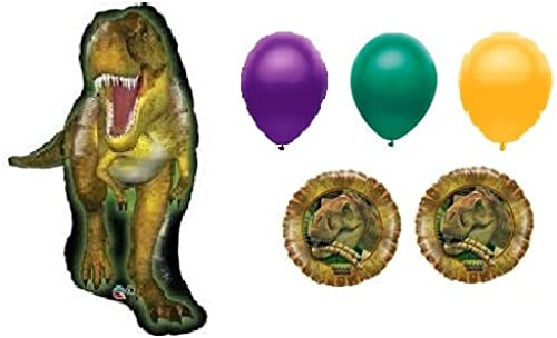 Jurassic World Balloon Bouquet - Dinosaur Balloons - 6 Count by American Balloon Company