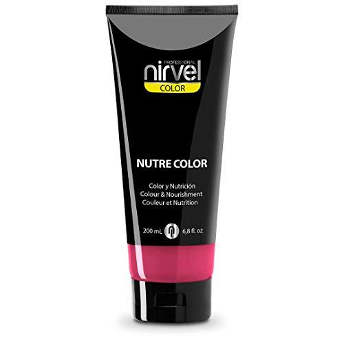 Nirvel NUTRE COLOR FLUOR Fresa 200 mL Mascarilla Profesional - Coloración temporal - Nutrición y brillo