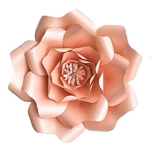 DIY grande rosa gigante papel flor boda fondo decoración artesanía papel para bebés