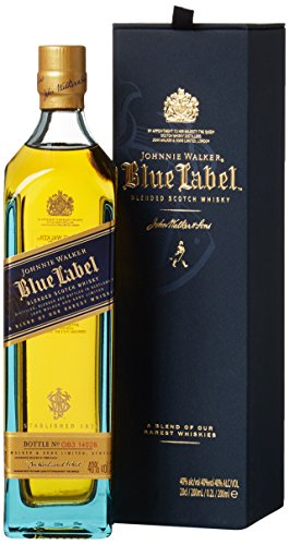 Johnnie Walker Blue Label Scotch mit Geschenkverpackung Whisky (1 x 0.2 l)